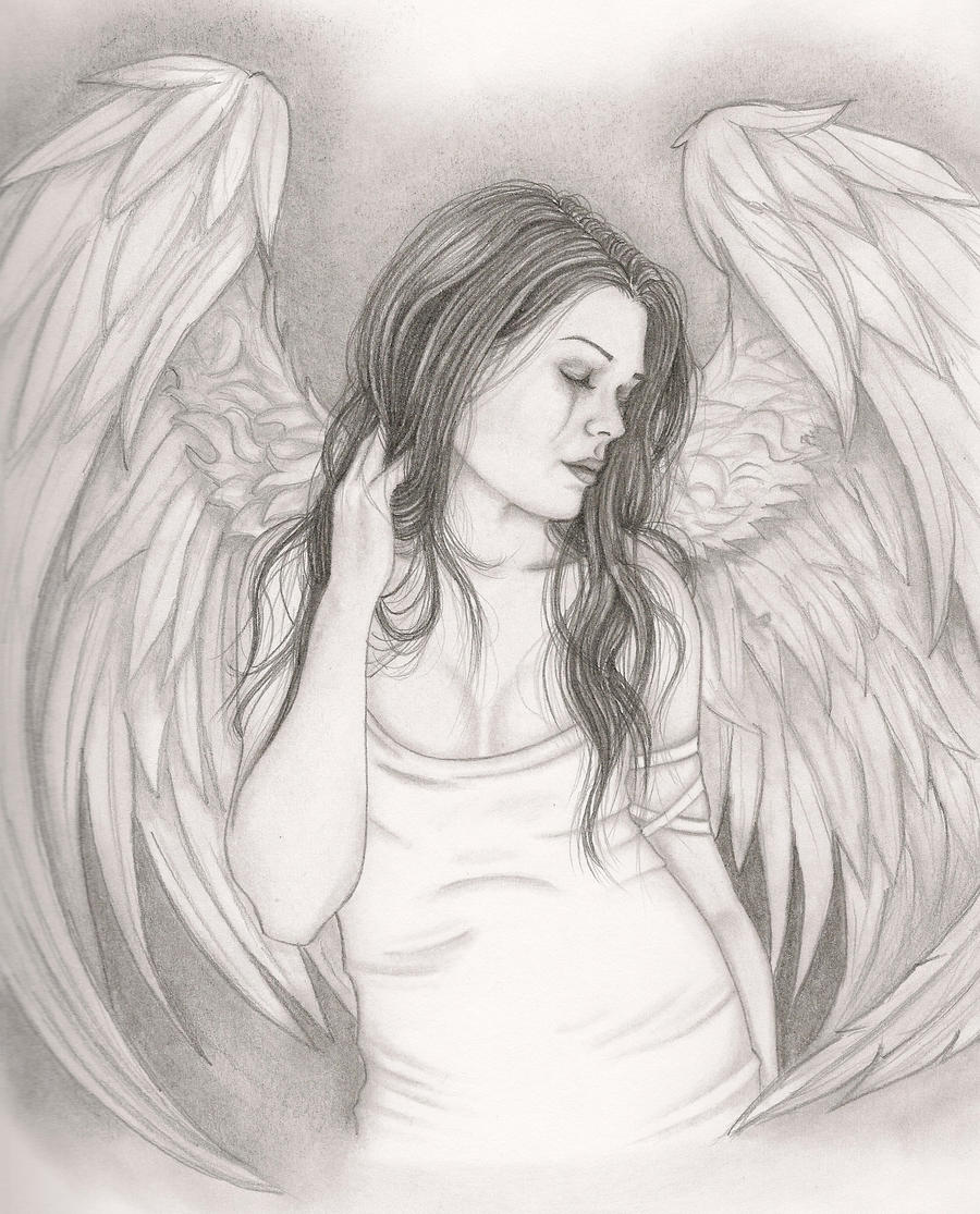 depressed angel drawings - photo #29