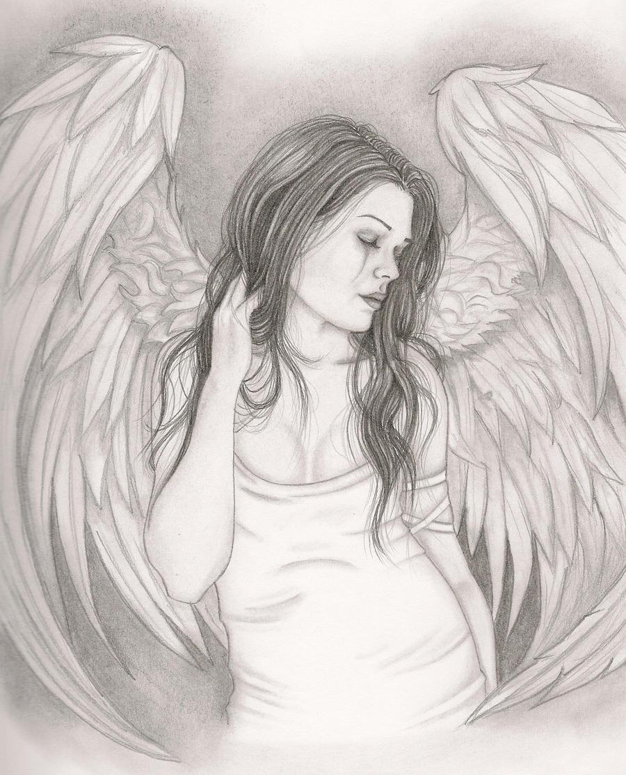 depressed angel drawings - photo #29
