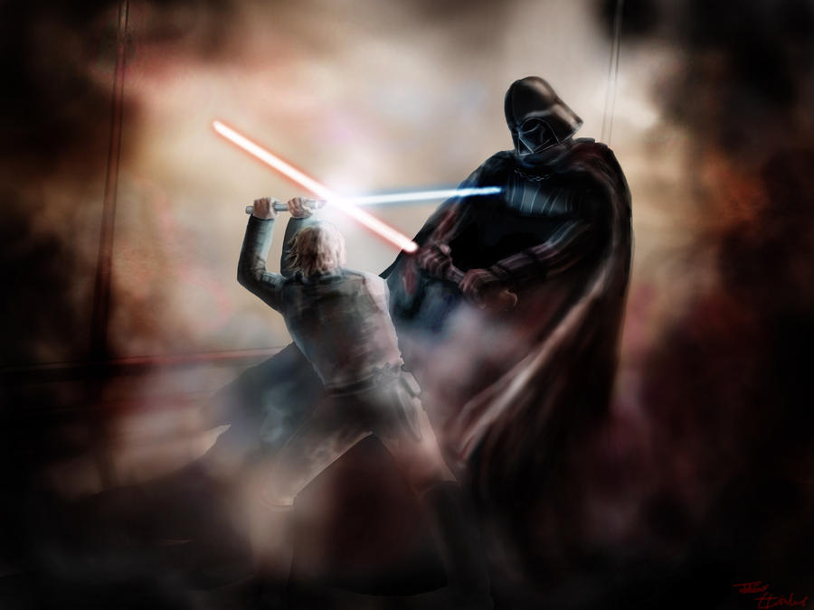 Vader vs. Skywalker by Greengrove