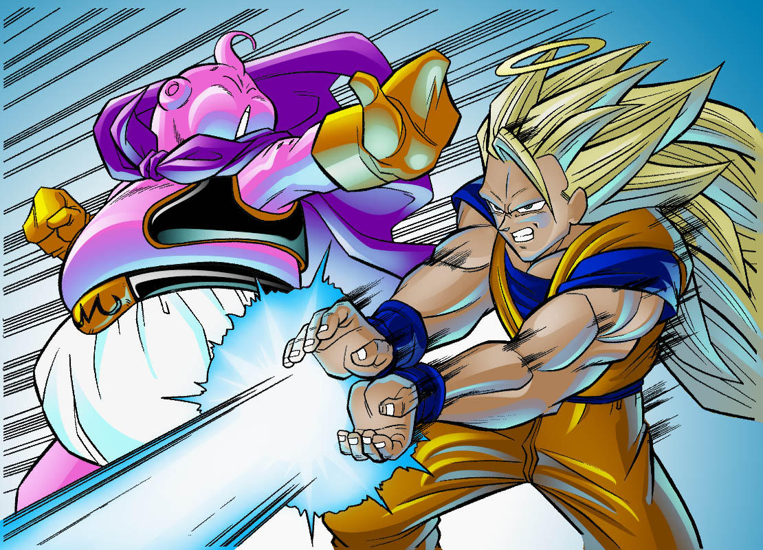 Goku vs Buu by TheNass on DeviantArt