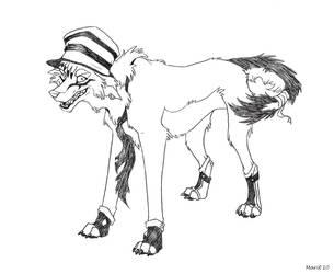 $6 Ink Sketch - Gray Clown by paintedadelaide
