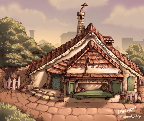 Geppetto's house exterior by iANAR