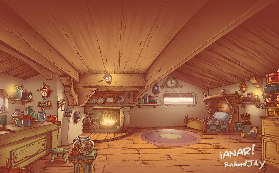 Geppetto's house interior by iANAR