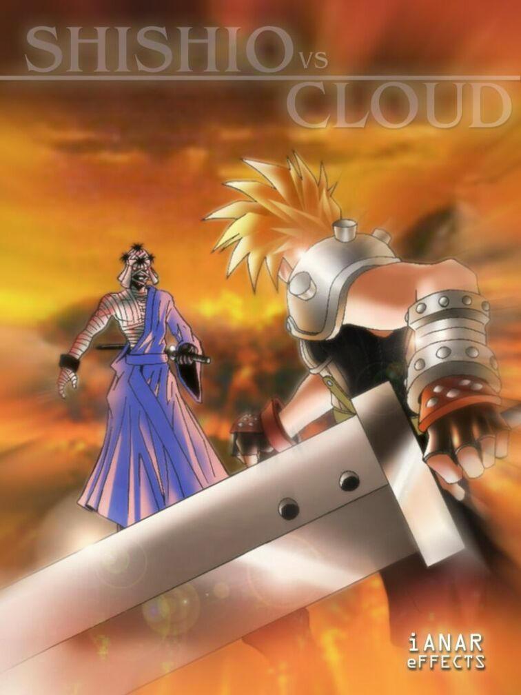 Cloud Strife vs Shishio Makoto by iANAR