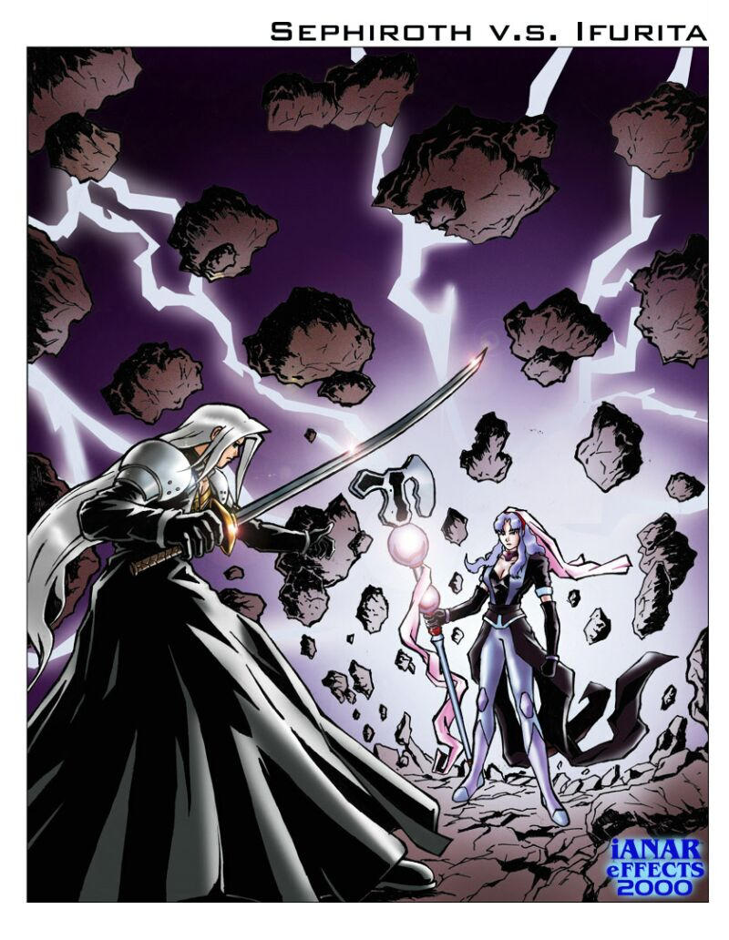 Sephiroth vs Ifurita by iANAR