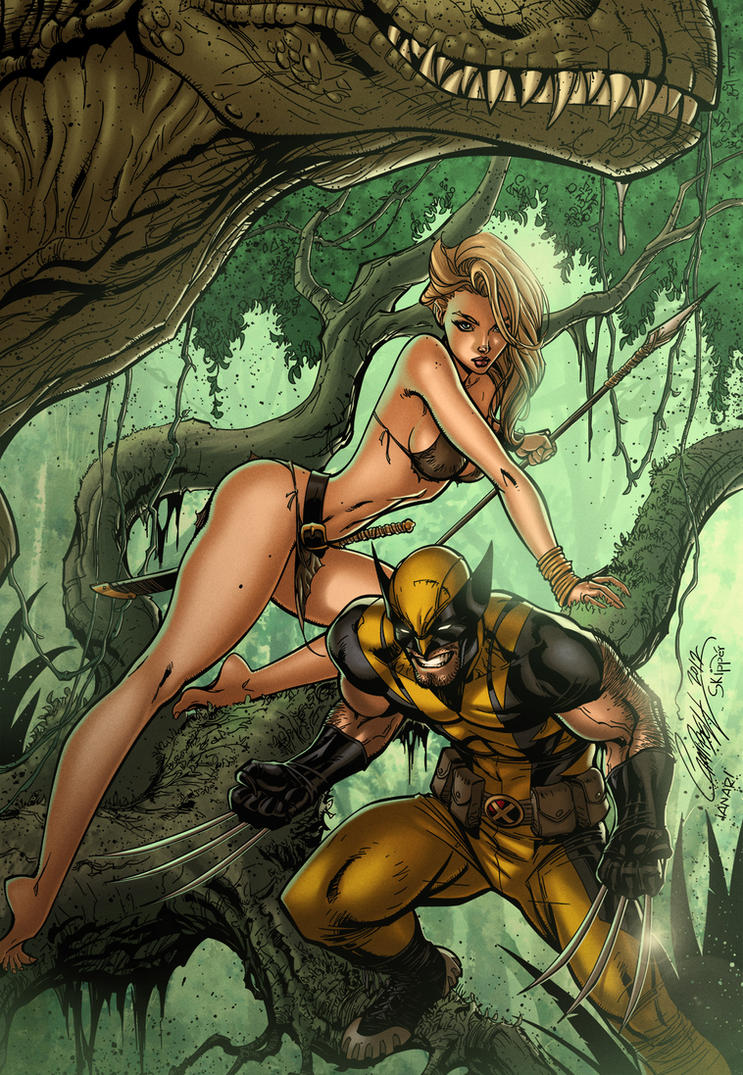 Savage Wolverine and Shanna the She-Devil by iANAR