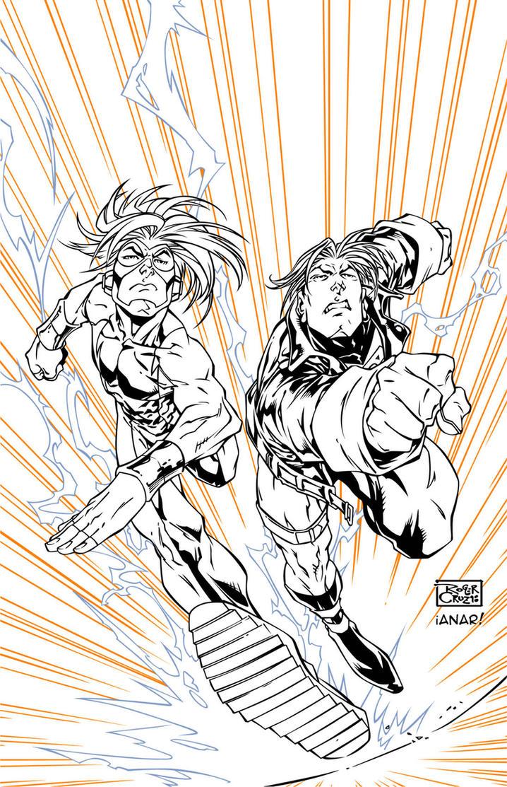 Impulse_Superboy vector inks by iANAR