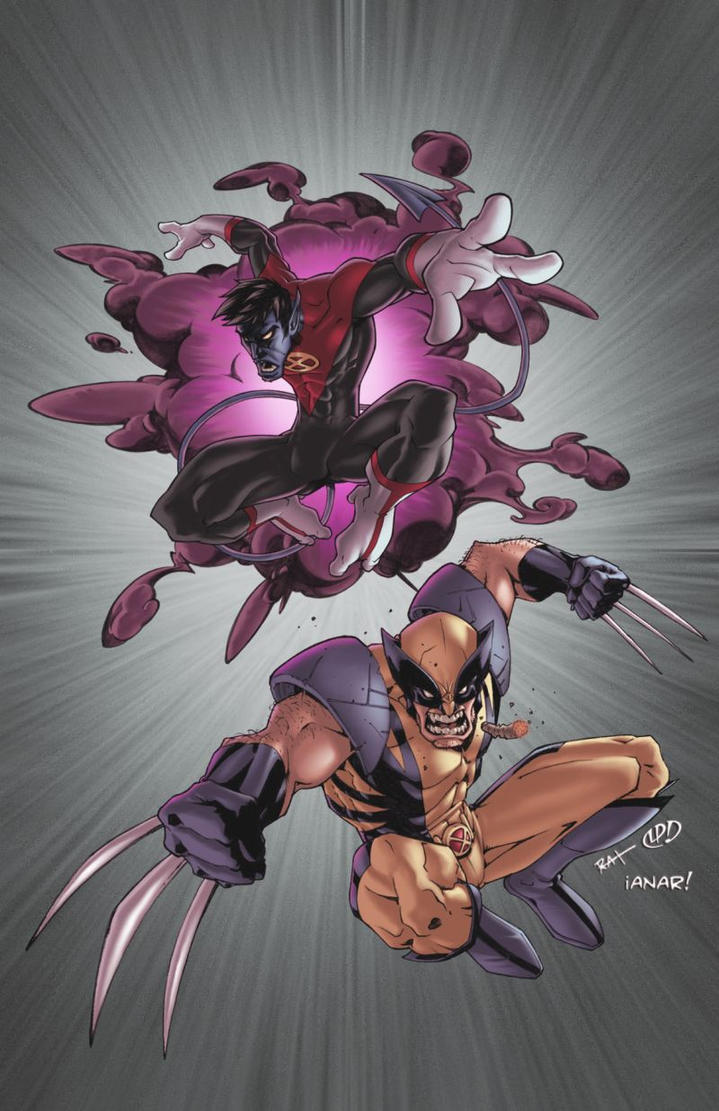 Nightcrawler N wolvie colors by iANAR