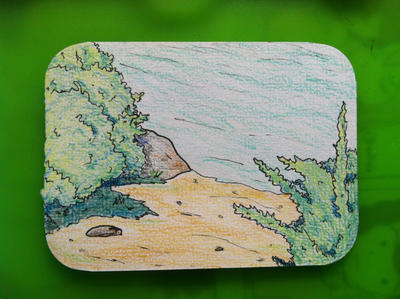 Shore ACEO by Pongoi