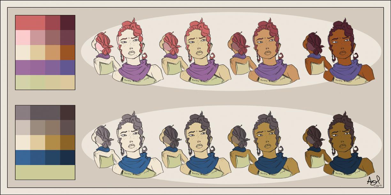 Color In Character Design : Character design color sheet by starzhelli on deviantart