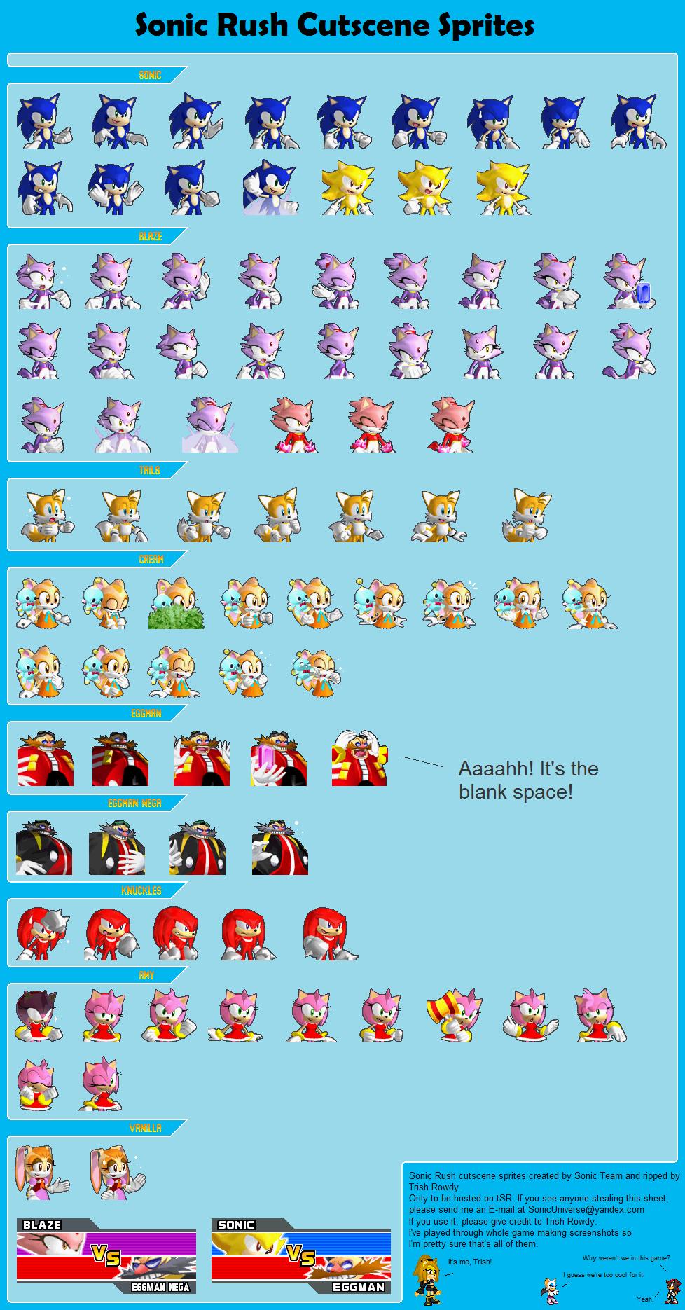 Sonic Rush Cutscene Sprites by TrishRowdy