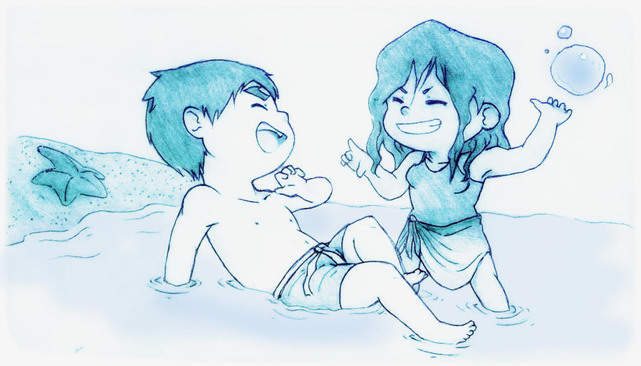 Makorra splash by bamsicle