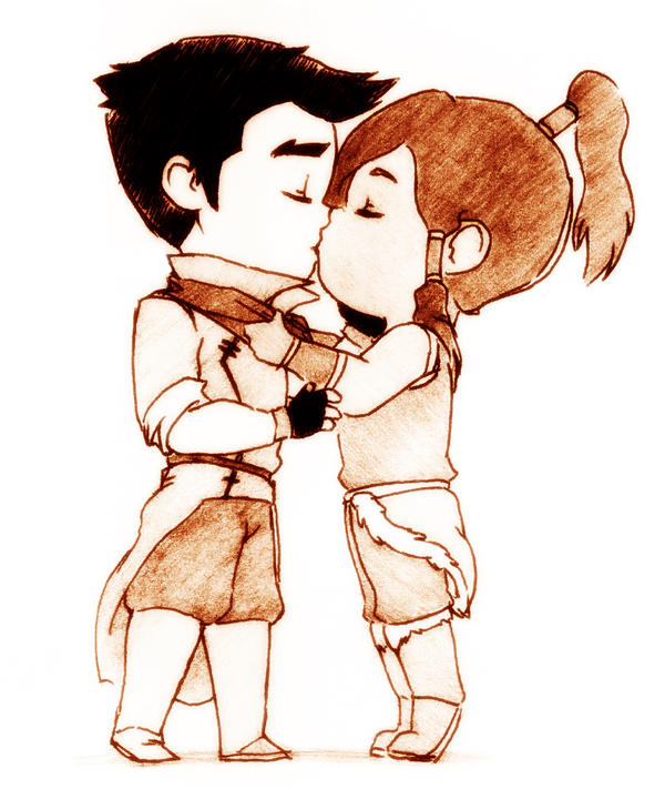 Makorra kiss by bamsicle