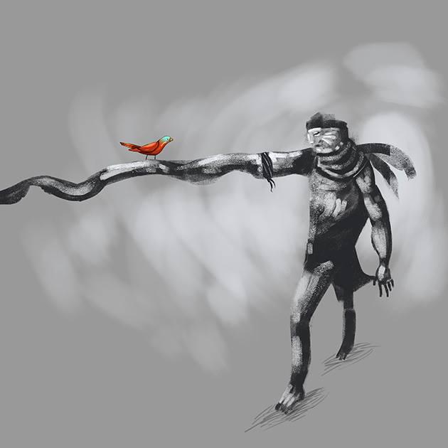 pajarito vs oscuridad by tierraboca
