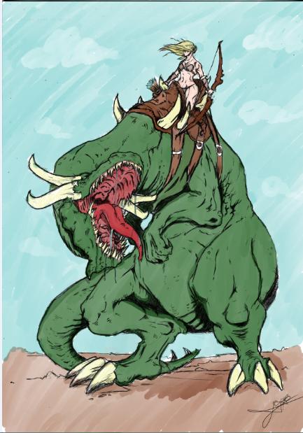 Dibujo de RandyArt ,color por mi by 123nukume