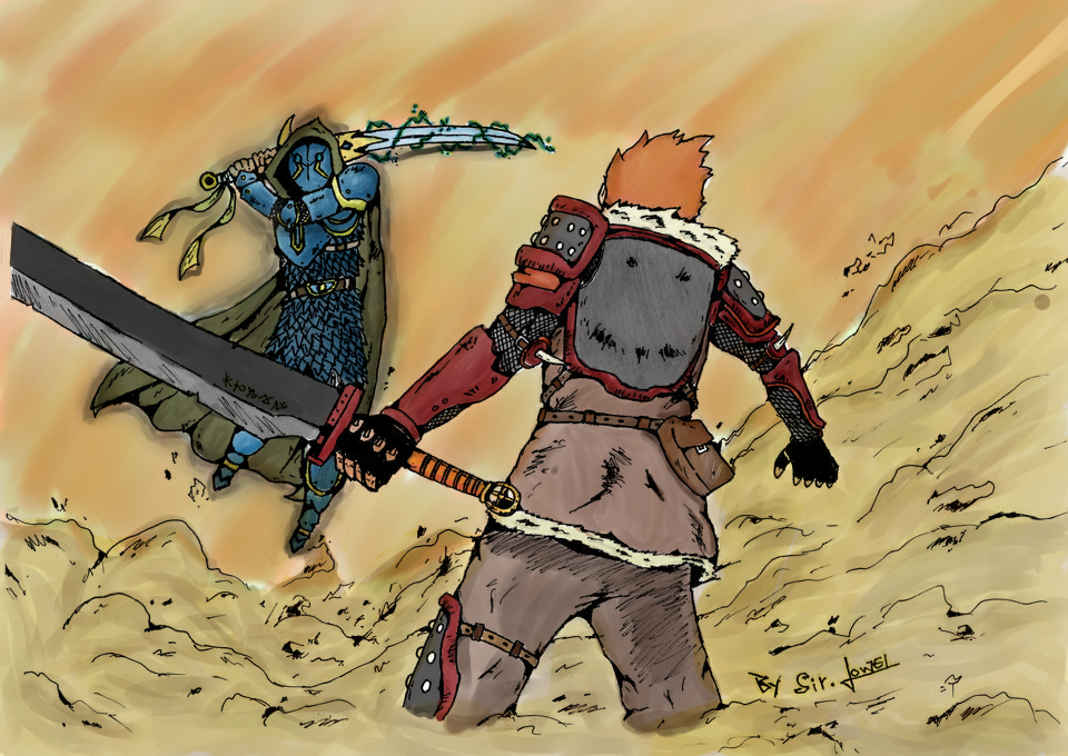 Sword battle by 123nukume