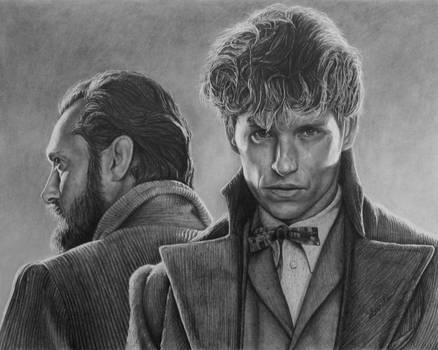 Newt and Dumbledore