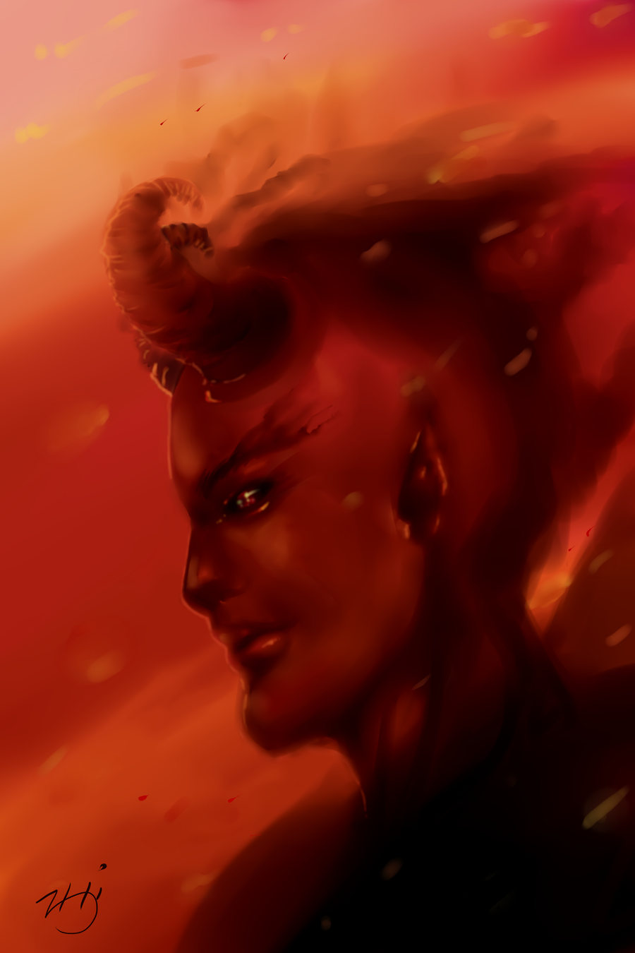 Fire ashes drawing