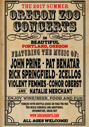 Oregon Zoo Concert Poster (Victorian)