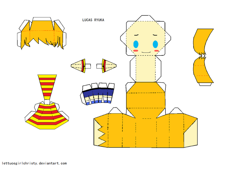 Papercraft 3 Lucas By Lettucegirlchristy Deviantart – Fondos de Pantalla