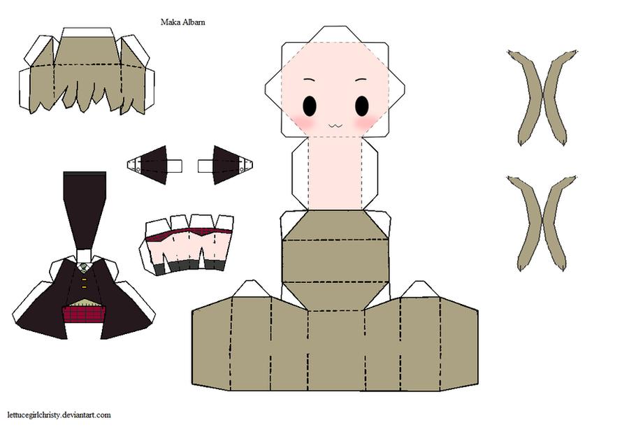 Papercraft Maka Albarn - Soul Eater by lettucegirlchristy