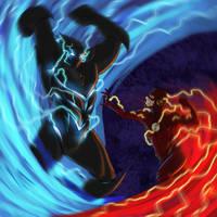 Flash vs. Savitar by 8comicbookman8