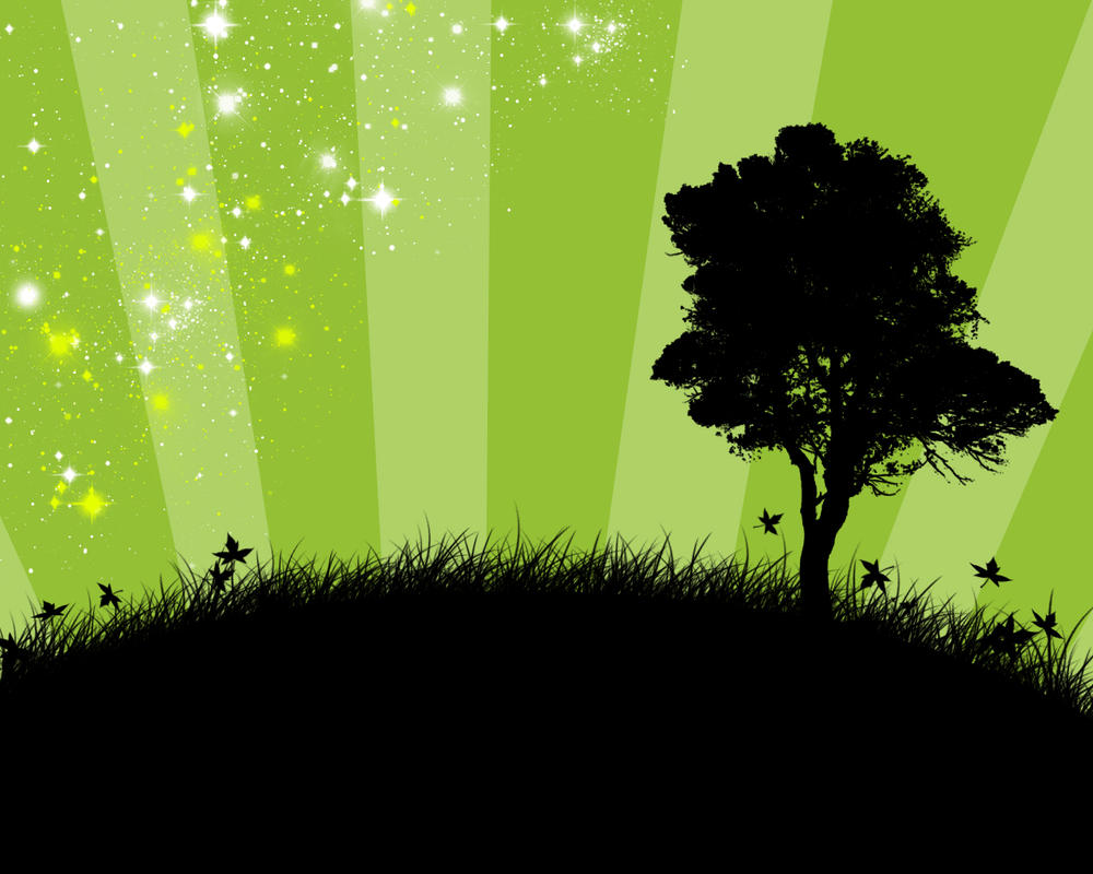 Green Wallpaper By LuckyHRE