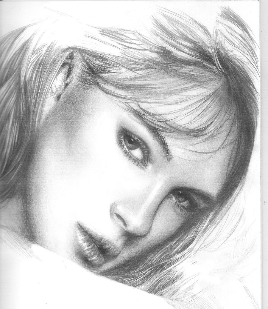 beauty portrait unfinished 3 by Painirl