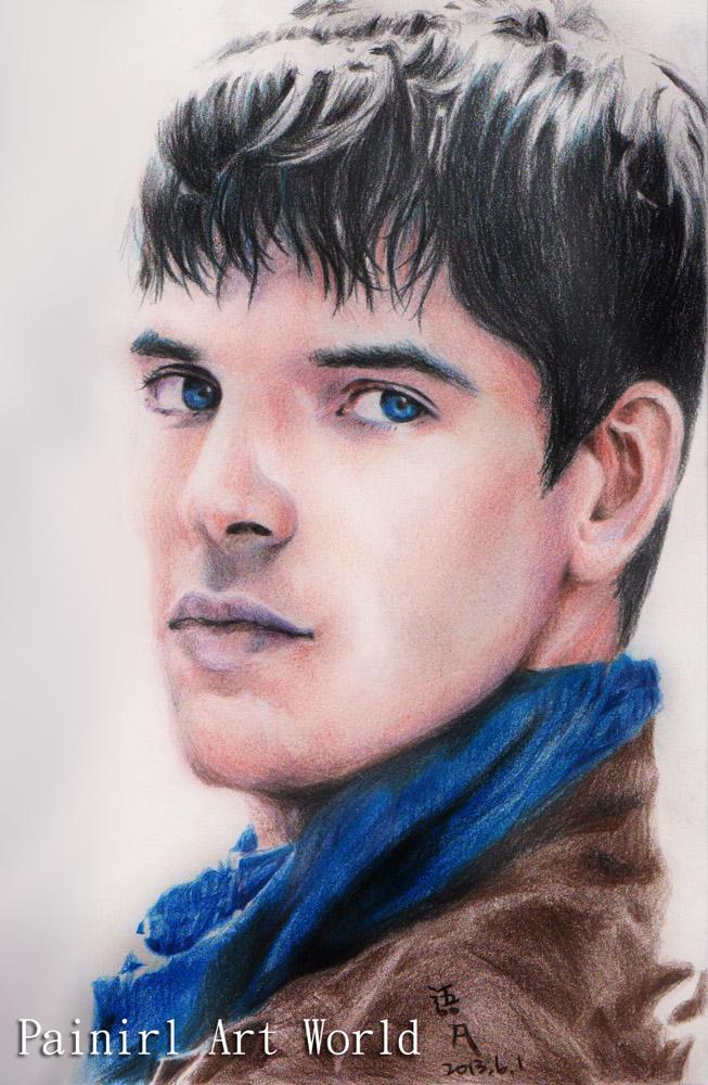 Colin Morgan color pencil by Painirl