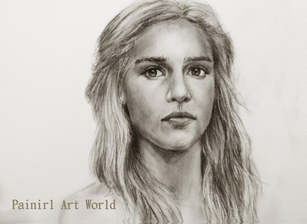 Fan-art - Страница 43 Daenerys_targaryen_by_painirl-d69zvl7