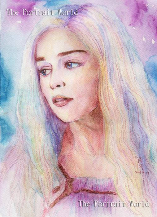 Daenerys - watercolor by Painirl