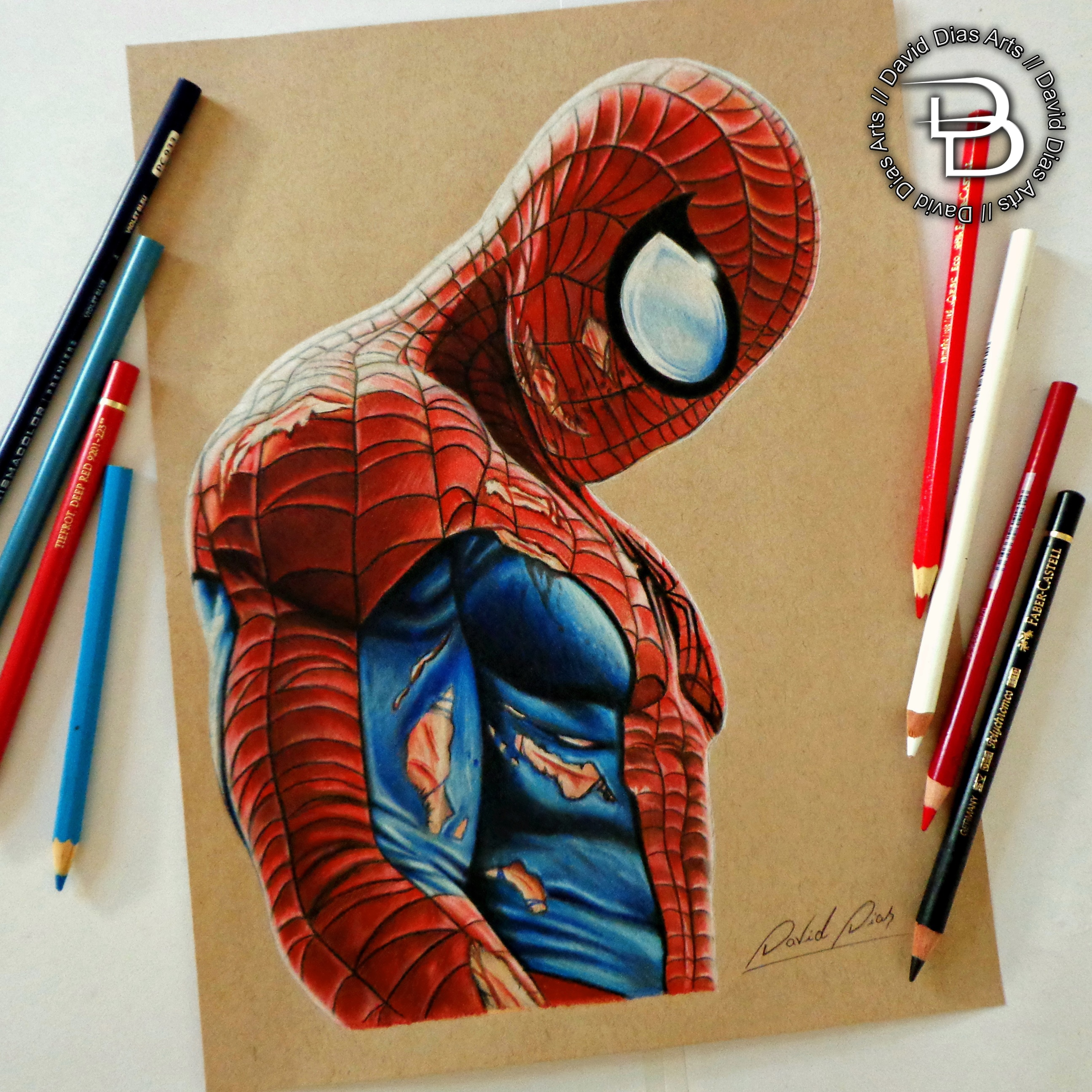 How to draw spiderman pencil 55