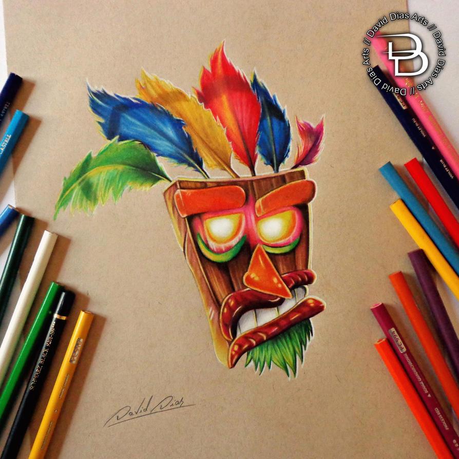 aku aku crash bandicoot by daviddiaspr on deviantart