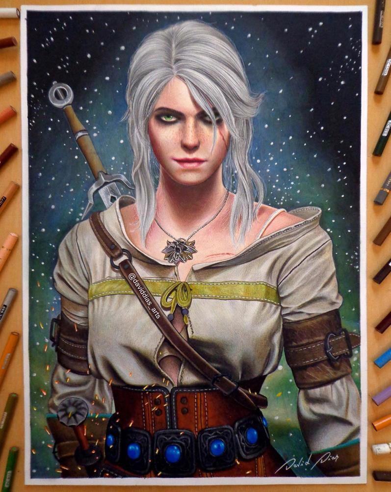 Ciri - The Witcher 3 by Daviddiaspr