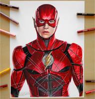 The Flash   Ezra Miller by Daviddiaspr