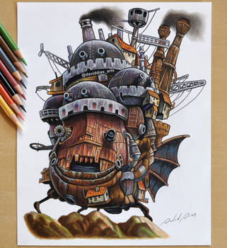 Howl's Moving Castle by Daviddiaspr