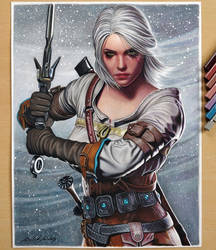 Ciri (The Witcher 3) by Daviddiaspr