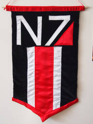 Mass Effect N7 Wall Hanging by WhimsicalSquidCo