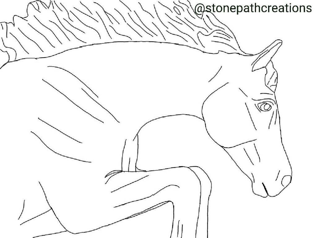 Free Pony Lineart  by StonePathCreations