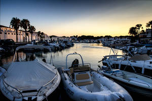 Cala'n Bosch Marina at Sunset by Punt1971