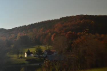 hillside in autumn