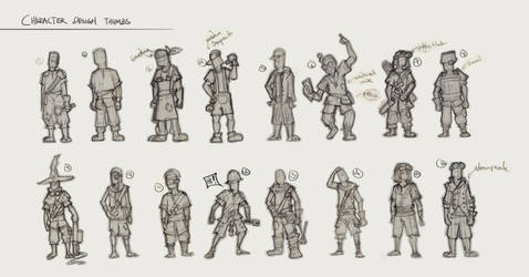 Character Design Thumbs by SourShade