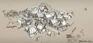 Medieval Town Sketch