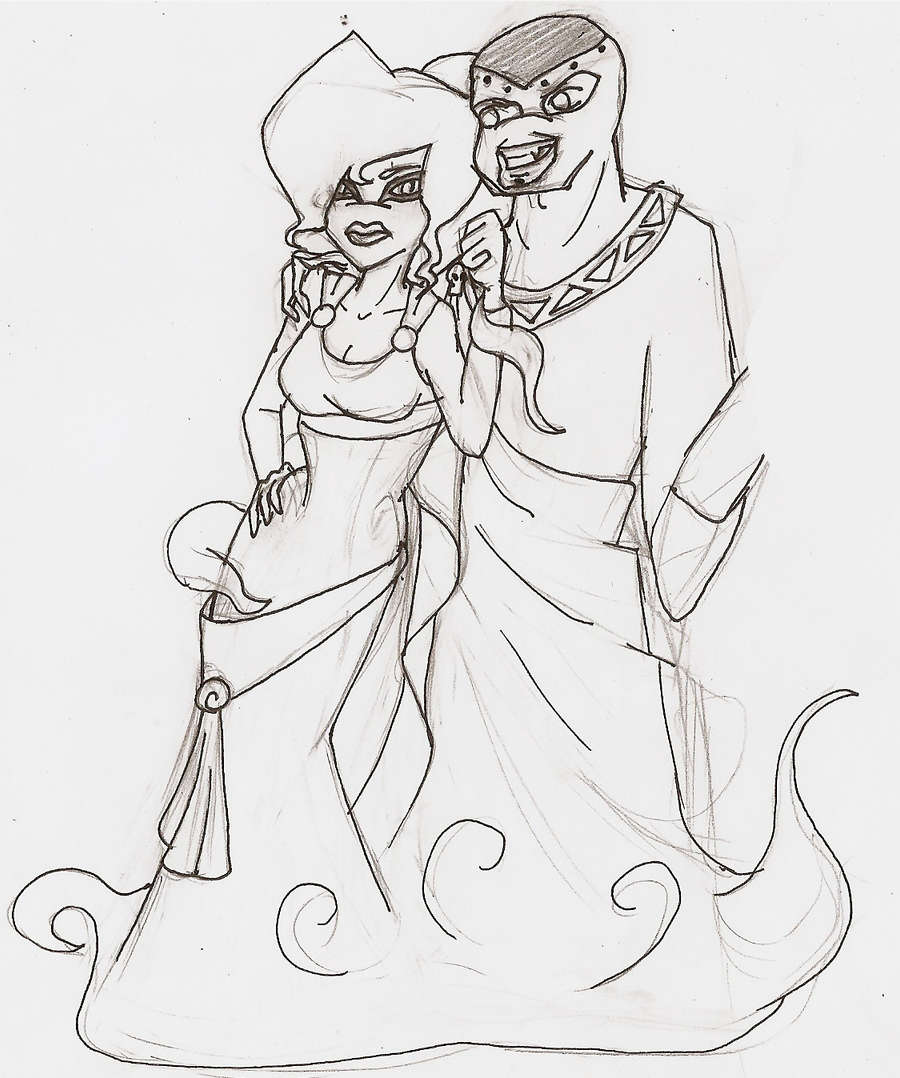 Sketch Hades and megara by MelyProjects on deviantART