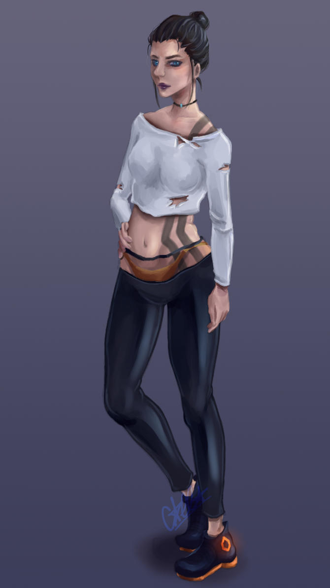 Amy Character Design Version 01 by Calla-chan