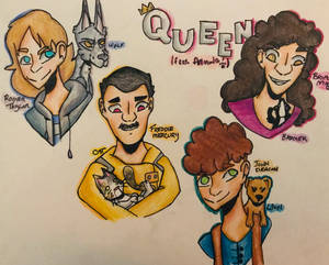 Furry Friends (Queen Fan Art)