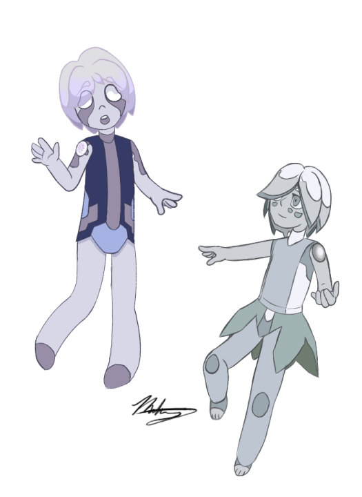 Ghost Quartz and Goshenite by MatchMun