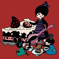cake and tea by manlitu