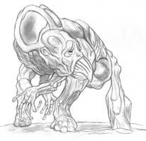Brachiambulating Neo-Human by thomastapir