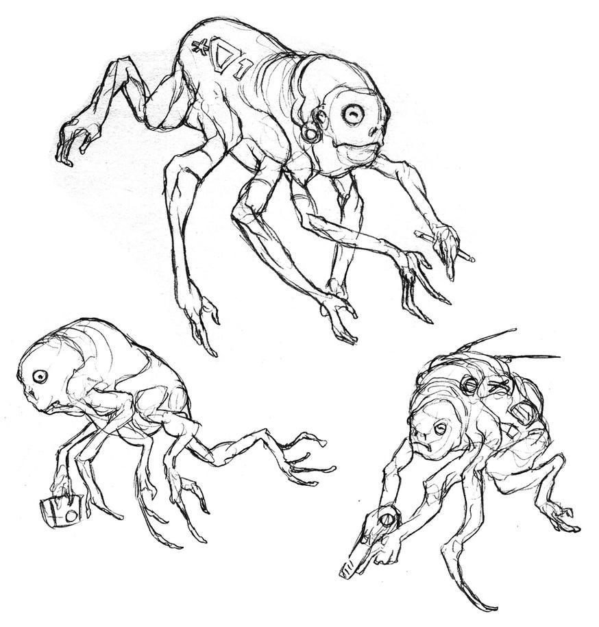 Crab Men by thomastapir